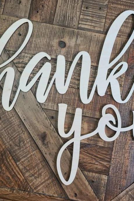 Thank You Sign, Wedding Thank You Sign for Thank You Cards, Bride and Groom Photo