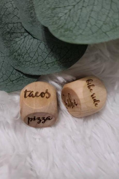 Family Night Dice | Decision Dice | Custom Family Gift | Gift for Couple | Set of 2