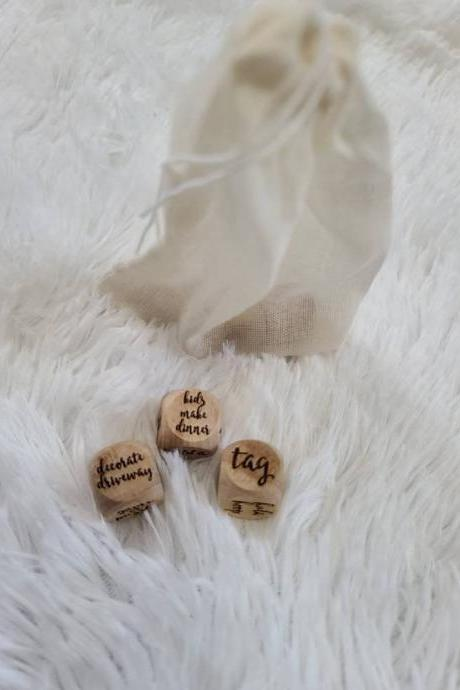 Quarantine Family Dice | Decision Dice | Custom Family Gift | Set of 3